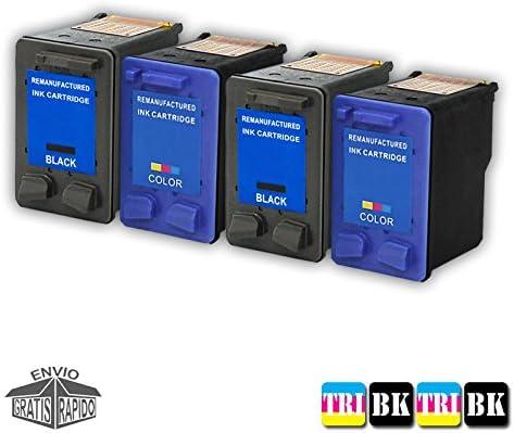 Pack 4 X Cartuchos DE Tinta COMPATIBLES para Impresora HP ...