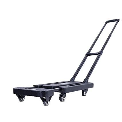 61c3c8aab815 ZHHL Trolley Luggage Cart, Small Cart Pull Truck Fold Portable ...
