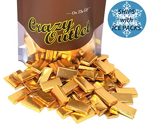 CrazyOutlet Pack - Andes Creme De Menthe Thins, Gold Wrap Mint Chocolate Candy Bars, Wedding Day Candy, Bulk Pack, 2 lbs