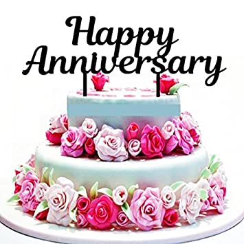 New Happy Anniversary Cake Topper Party Event Decoration Supply