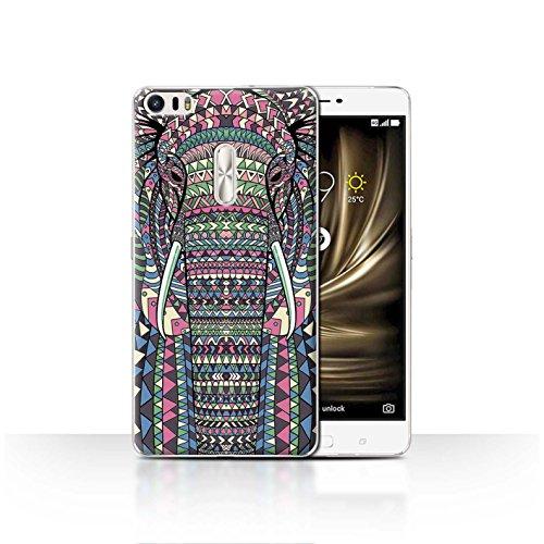 Coque Ze554kl Animaux Aztec Design Asus Collection couleur loup 4 sépia Pour Éléphant Zenfone motif Stuff4 RqXvwUdR