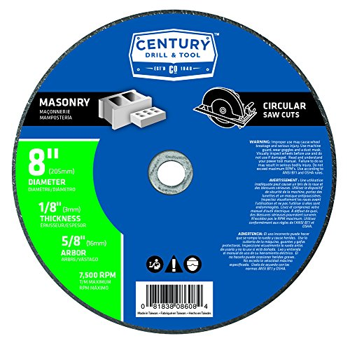 Century Drill and Tool 8608 Masonry Abrasive Saw Blade, 8-Inch
