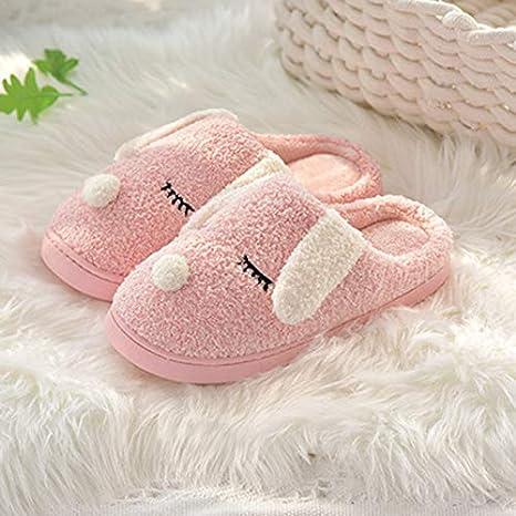 NVSRZTX La Mitad del Paquete Zapatos de algodón Pareja de Dibujos Animados Pequeños Chicas Lindas Zapatillas De ...