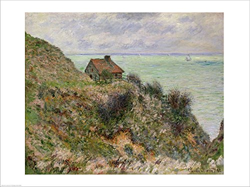 The Customs Officers' Hut at Pourville, 1882 by Claude Monet Laminated Art Print, 27 x 20 inches