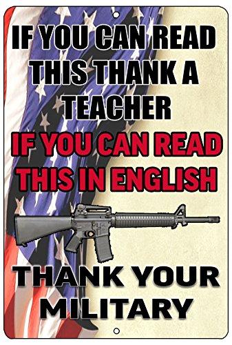 Rogue River Tactical Thank Your Military US Flag Metal Tin Sign Wall Decor Man Cave Bar USA Veteran