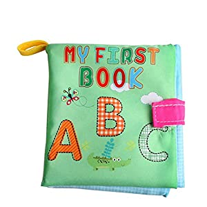 Dearmy Baby First Book Non-Toxic Fabric Soft Cloth Book Early Educational Toys Letters/Shapes/Numbers Cognitive…