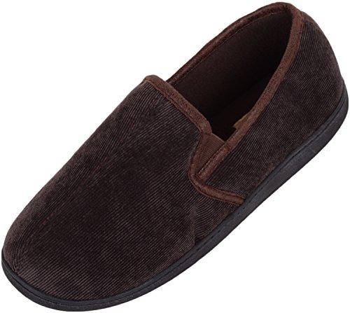 Scarpe Da Uomo Assolute Scivolano Su Pantofole / Muli / Scarpe Da Interni Con Tomaia In Morbida Pelle Marrone