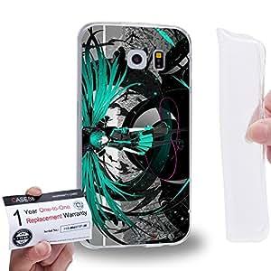Case88 [Samsung Galaxy S6] Gel TPU Carcasa/Funda & Tarjeta de garantía - Vocaloid Miki Hatsune Miku 0957