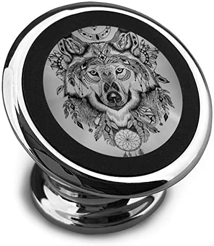 オオカミ 携帯電話ホルダー おしゃれ 車載ホルダー 人気 磁気ホルダー 大きな吸引力 サポートフレーム 落下防止 360度回転