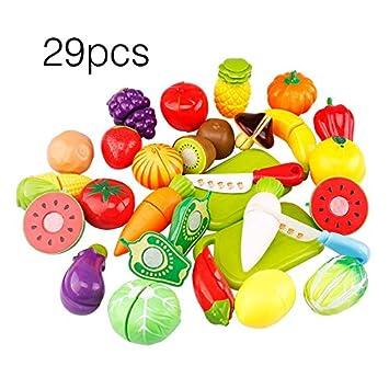 lovelysunshiny 29 teile satz einzigartige kinder kinder schneiden obst gemuse lebensmittel spielen kuche spielzeug