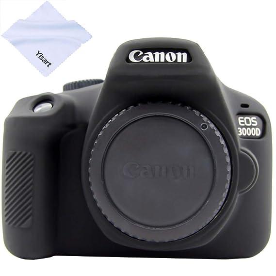 Yisau Canon EOS 4000D/3000D - Carcasa de Goma para cámara Digital ...