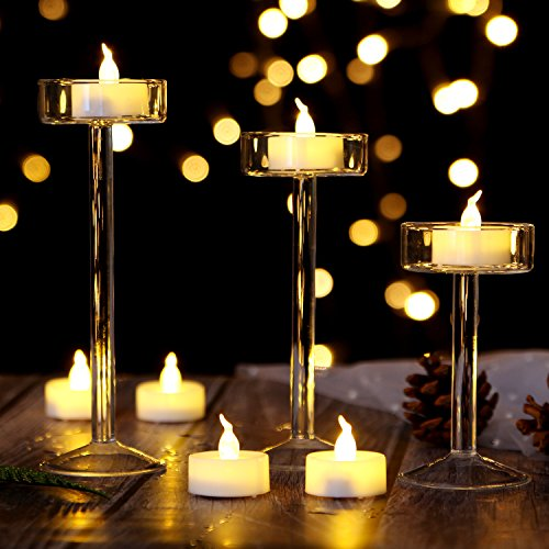 AGPtEK Tea Lights,100 Pack Flameless LED Candles Battery Operated Tealight Candles No Flicker Long Lasting Tealight for Wedding Holiday Party Home Decoration(Warm White) by AGPTEK (Image #7)