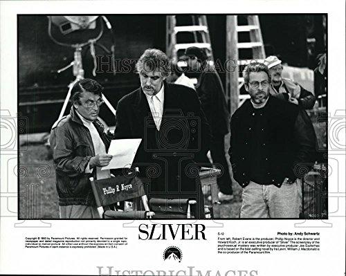 1994 Press Photo Robert Evans Phillip Noyce and Howard Koch Jr. on set of Sliver