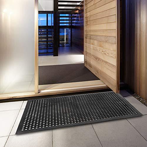 ROVSUN Rubber Floor Mat, 36''x60'' Anti-Fatigue/Non-Slip Drainage Mat, for Industrial Kitchen Restaurant Bar Bathroom, Indoor/Outdoor Cushion by ROVSUN (Image #7)