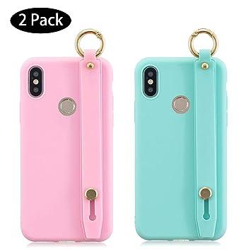 Leton [2 Pack] Funda Xiaomi Mi A2 Rosa Verde, Carcasa para ...