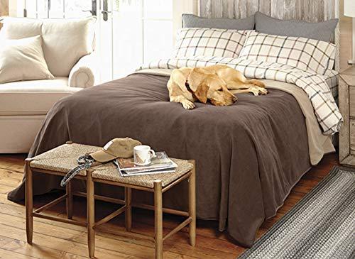 Orvis Ultralight Dog-Proof Fleece Coverlet/Only King, Bark, King