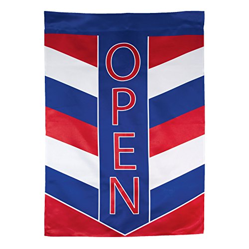 In the Breeze Open Patriot Lustre House Banner For Sale