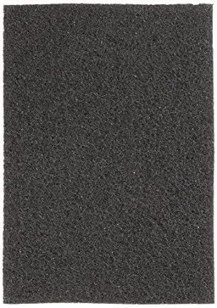 """Glit 24406 TK Polyester Blend Black Stripping Floor Pad, Synthetic Blend Resin, Minerals Grit, 20"""" Length x 14"""" Width, 175 to 350 rpm (Case of 5)"""