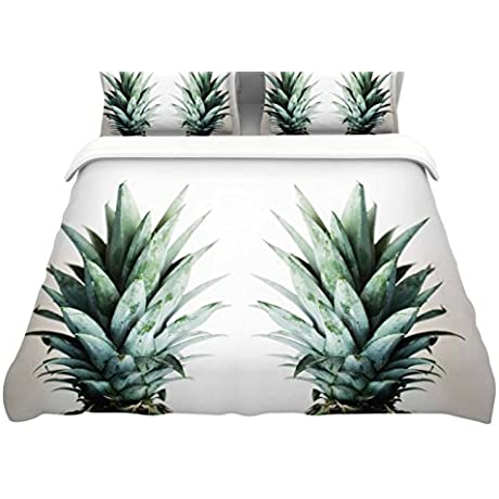 KESS InHouse Chelsea Victoria Two Pineapples Featherweight Queen Duvet Cover 88 X 88