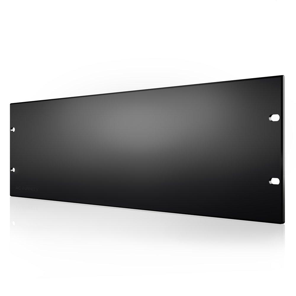 AC Infinity Rack Panel Accessory Blank 3U Space for 19 Rackmount, Heavy-Duty 3mm Gauge Steel, Black AC-RPB3-S