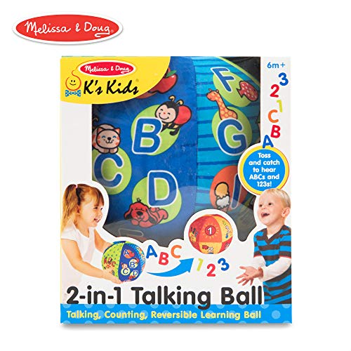 Melissa & Doug K's Kids 2-in-1 Talking Ball Educational Toy - ABCs and Counting 1-10]()