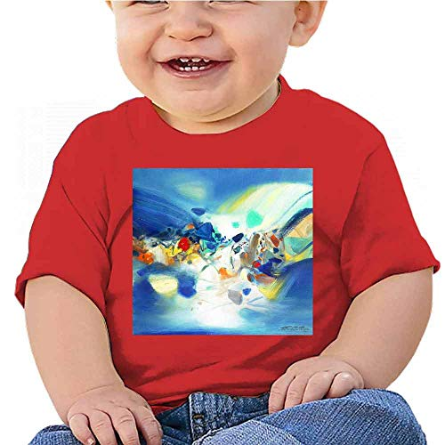 Toddler T-Shirts Abstract Art Background. Oil Painting Style on Canvas Tee for Boys Red ()