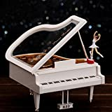 Cot with Changing Unit KAKA(TM Lovely Creative Design Music Box with Piano Style Dancer Treasure Gifts for Girls Kids