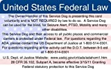 ADA & Federal Law Information Card