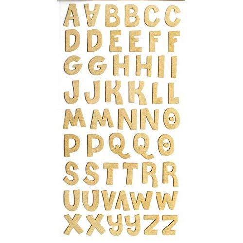 Adesivos Alfabeto Canvas Bege Ref.15279-AD1481 Toke e Crie