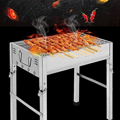 ZXIAQI Grand Barbecue Grill Épaissie Pliant Ménage Barbecue Grill Poêle Extérieur Barbecue Portable (5-10 Personnes),M