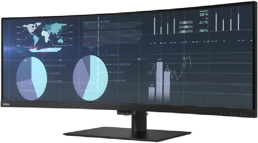 Lenovo - 61D5RAR1US - Lenovo ThinkVision P44w-10 43.4 WQUXGA WLED LCD Monitor - 32:10 - Raven Black - Vertical Alignment (VA) - 1.07 Billion Colors - 380 Nit Typical, 450 Nit Peak - 4 ms Extreme Mode