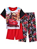 Disney Cars Lightning McQueen Tow Mater Boys 3 Piece Pajamas PJ Set (Toddler)