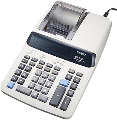 Casio calculadora impresora escritorio tipo dr-t220-we de 12 ...