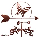 Hand Made BUTTERFLY FLAT POST Mount Weathervane ~NEW~