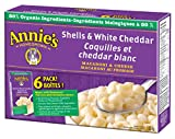 Annie's Homegrown Shells and White Cheddar Macaroni and Cheese, 6-Count, 1.02 Kilogram