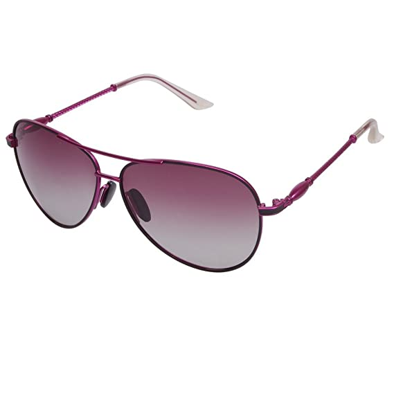 51f79ceddb1 Roron Premium Aviator Polarized Sunglasses for Women ALA195 Color White at  Amazon Women s Clothing store