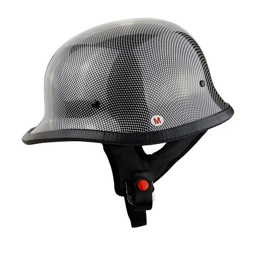 Carbon Fiber German Motorcycle Helmet - 4