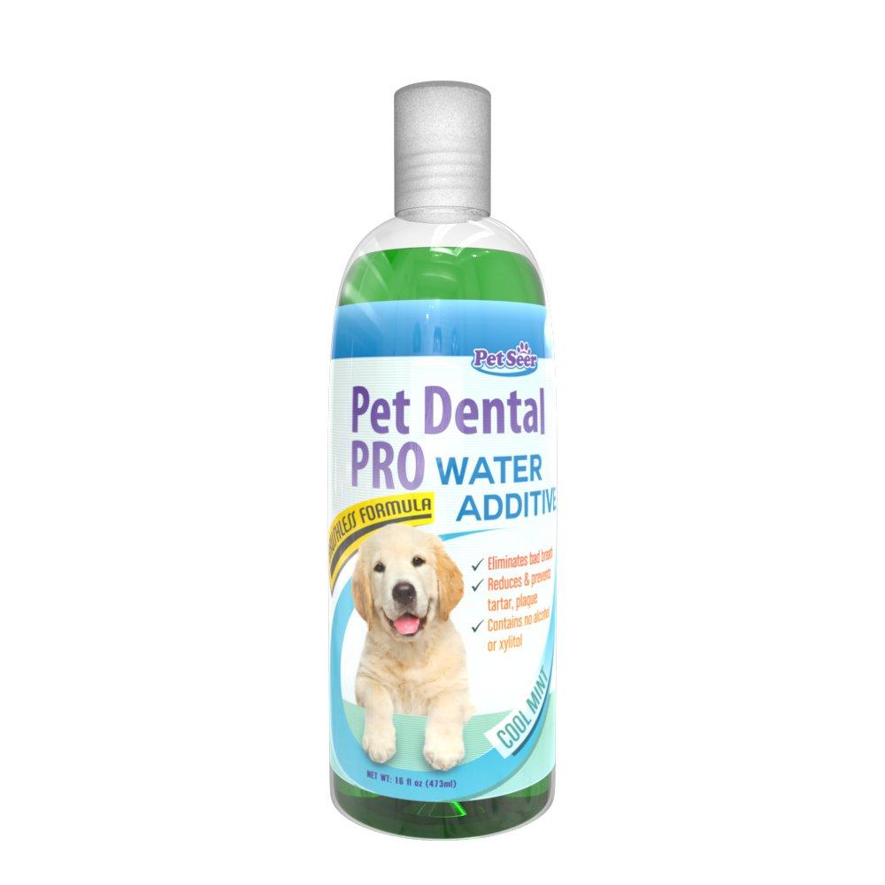 Pet agua aditivo para perros y gatos - sin necesidad de perro cepillo de dientes pasta de dientes Dental para Dental - mejor con juguetes huesos Treats ...