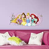 RoomMates RMK3182GM Disney Princess Friendship Adventures Peel and Stick Giant Wall Graphic