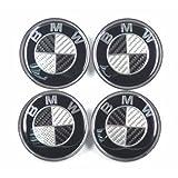 Carbon Fiber Emblem Badge Logo Wheel Center Hubs Caps Sticker Adhesive for bmw