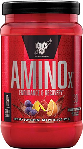 Stack Workout - BSN Amino X Post Workout Muscle Recovery & Endurance Powder with 10 Grams of Amino Acids Per Serving, Flavor: Fruit Punch, 30 Servings (Packaging May Vary)