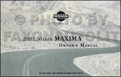 2001 Nissan Maxima Owner's Manual Original