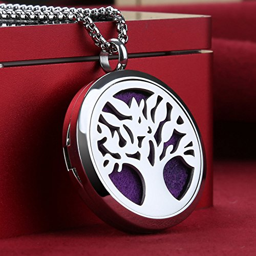 Essential Oil Diffuser Necklace Tree of Life St...