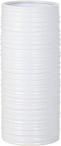 Torre Tagus Ripple Ceramic Cylinder Vase Minimalist Design