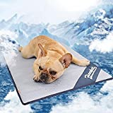 KINGSWELL Pet Cooling Mat for Dogs & Cats, Breathable Self Cooling Pad Ultra Soft Comfortable Blanket Bed for Large Dog and Cat Sleeping in Summer(Medium)