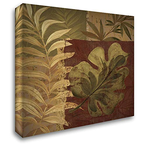 Tropical Foliage I 28x28 Gallery Wrapped Stretched Canvas Art by Gladding, Pamela