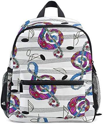 音楽の要約 幼児就学前のバックパック本袋ミニショルダーバッグリュックサック通学用1-6年旅行男の子女の子