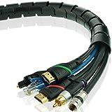 Mediabridge EZ Cable Bundler (6 Feet) - 25MM Width - Flexible & Expandable Cable Management Sleeve (Part# CM1-25-06B )