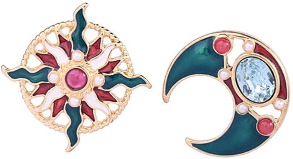 Holibanna 1 par Goteando Esmalte Estrella Mes Aretes Pendientes de Perlas Asimétricas Navideñas Mujeres Señoras Joyas Accesorios Regalos