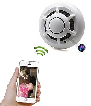 Detector de la cámara WIFI del IP Motion Detection Spy Camera de humo Nancy leva cámara oculta Mini videocámara: Amazon.es: Bricolaje y herramientas